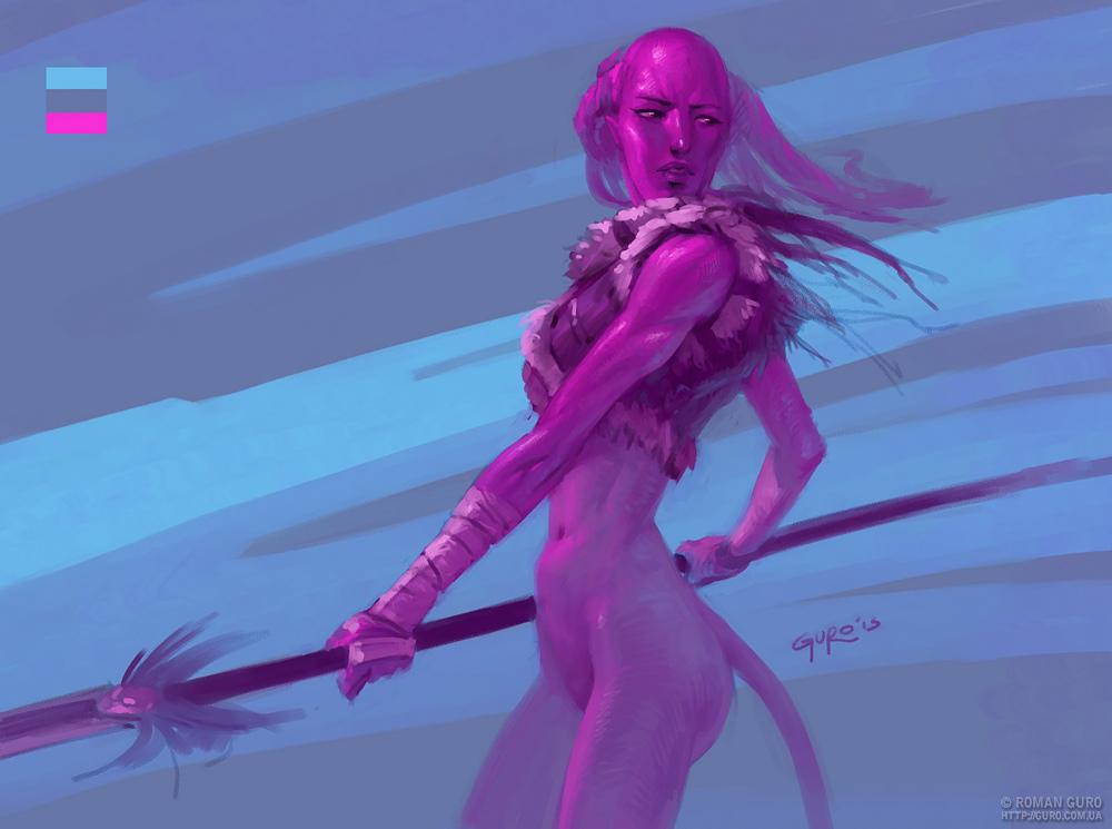 День4: Palette challenge. Розовый аватар