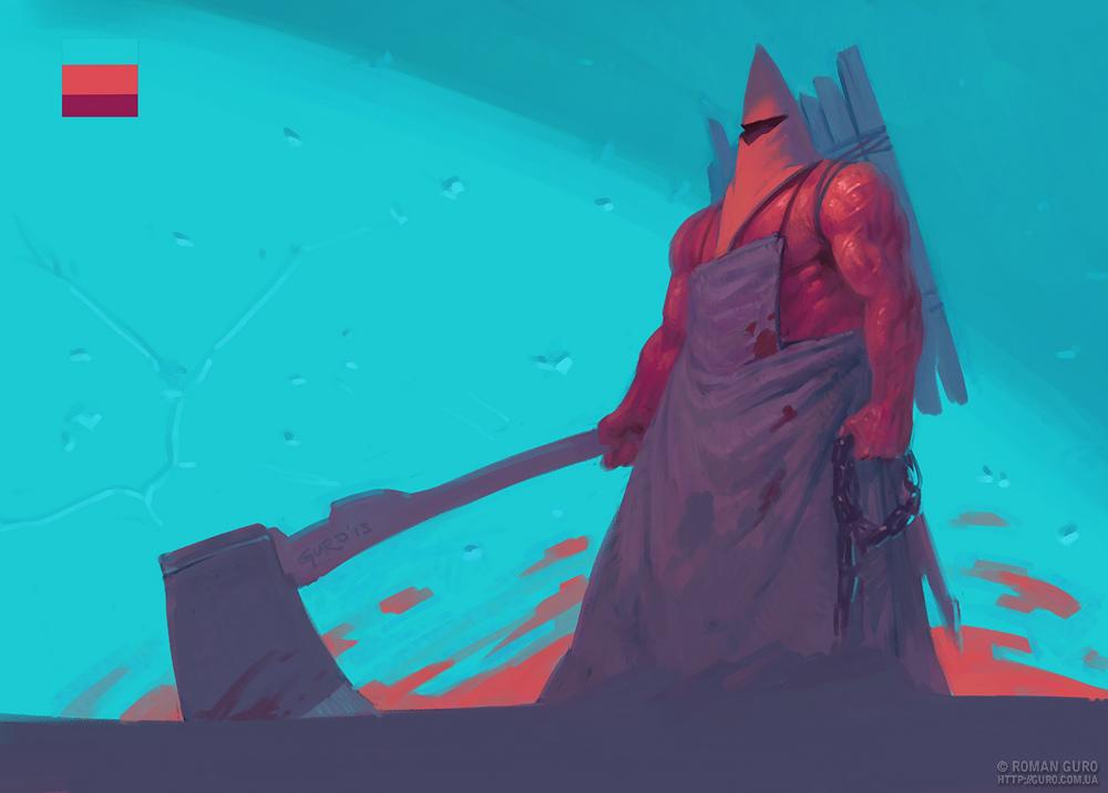 День 5: Palette challenge. Кровавый король