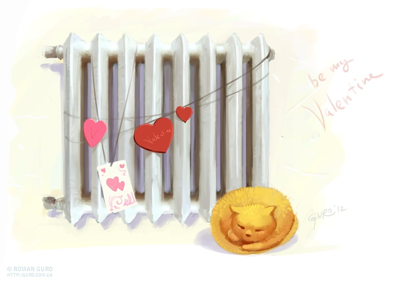 Валентинка для радиатора;)